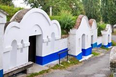 Cave historique de vigne de chambre forte dans Plze, village de Petrov, Moravie du sud, République Tchèque Le complexe est protég Image libre de droits