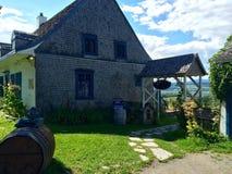 Cave historique de yard de vigne de maison Photographie stock libre de droits
