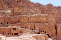 Cave home in Petra Stock Photos