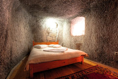 Cave Hotel Bedroom Stock Photos