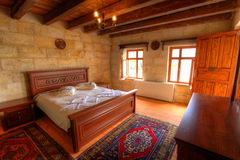 Cave Hotel Bedroom Stock Images