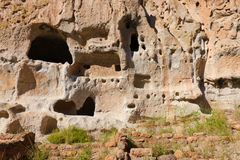 Cave House, Bandelier National Monument. Cave Dwellings at Bandelier National Monument, NM Royalty Free Stock Photography