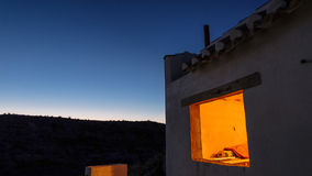 A cave house at dusk in Garela, Andalusia Royalty Free Stock Photography