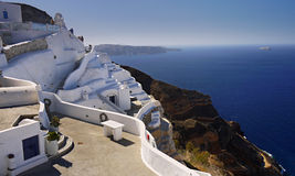 Cave house, Santorini Island Royalty Free Stock Images