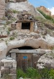 Cave houses. Uchisar, Cappadocia, Turkey  - Cave houses Stock Images