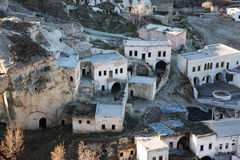 Cave houses. Built into the rocks in Cappadocia, turkey Stock Image