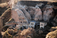 Cave houses. Built into the rocks in Cappadocia, turkey Royalty Free Stock Photography