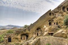 Cave houses at David Gareja Stock Image