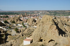 Cave houses of Guadix Stock Images