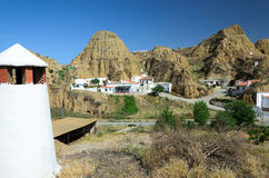 Cave houses of Guadix Royalty Free Stock Image