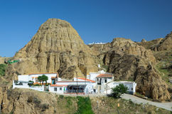 Cave houses of Guadix Royalty Free Stock Images