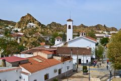 Cave houses in Guadix, Spain royalty free stock image