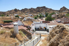 Cave houses from Guadix town Royalty Free Stock Image