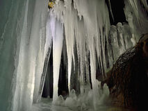 Cave and icicles Stock Image