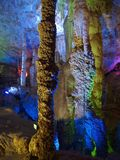 cave interior with colorful light Stock Images