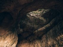 Cave interior at Szelim Cave, Hungary Stock Photo