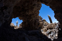 Cave at Isla Pia Pia Stock Photos