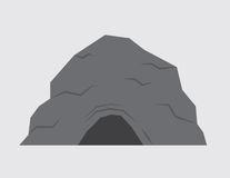 Cave. Isolated stone cave with gray background Stock Photography