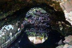 Cave Jameos del Agua, Lanzarote. Canary Islands, Spain stock image