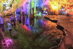 Cave in the Jiuxiang scenic region in Yunnan in China. Thee Jiuxiang caves area is near the Stone Forest of Kunming Stock Image