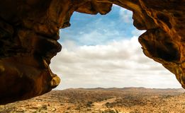 Cave Laas Geel rock interior near Hargeisa, Somalia. Cave Laas Geel rock interior near Hargeisa in Somalia Royalty Free Stock Photo