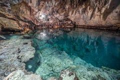 Cave lake Cenote Suytun at Valladolid, Yucatan - Mexico. Cave lake Cenote Suytun at Valladolid, Yucatan royalty free stock image