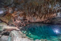 Cave lake Cenote Suytun at Valladolid, Yucatan - Mexico. Cave lake Cenote Suytun at Valladolid, Yucatan royalty free stock photo