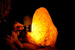 Cave lamp Stock Image