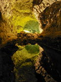 Cave on Lanzarote Royalty Free Stock Photography