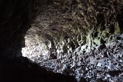 Cave. At Lava Beds National Monument Royalty Free Stock Image