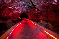 Cave in Lava Beds Stock Image