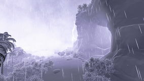 Cave and Light Of Resurrection, stormy weather. Video footage stock video