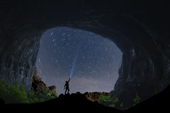 Cave love and night long exposure. Night and peace; Cave love and night long exposure Royalty Free Stock Photography