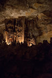 The cave on Mallorca island. The cave with an underground lake on Mallorca island, Spain Stock Images