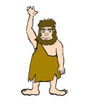 Cave man Stock Images