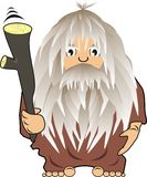 Cave man with a bludgeon. Cartoon, vector, illustration Royalty Free Stock Photos