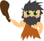 Cave Man Royalty Free Stock Image