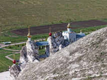 Cave monastery in Kostomarovo Stock Photography