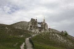 Cave Monastery in Kostomarovo, Voronezh Region, Russia.  Royalty Free Stock Photography
