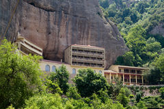 Cave monastery in the mountains of the Peloponnese, Greece. Royalty Free Stock Images