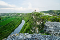 Cave Monastery in Orhei, Moldova. Monastery located in the caves in the rock Royalty Free Stock Photography