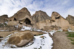Cave Monastery Selime in Turkey. stock photography