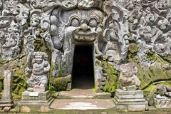 Cave mond in Goa Gajah Tempel on Bali Indonesia Royalty Free Stock Photos