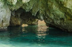 CAVE AND BEACH Stock Images