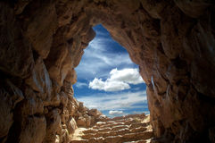 Cave at Mycenae 2. View from a water supplier in ancient Mycenae, Greece Royalty Free Stock Photo