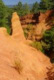 Cave ocracee in Provenza fotografia stock