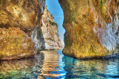 Cave in Orosei Gulf Stock Photography