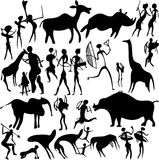 Cave painting. Royalty Free Stock Image