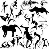 Cave painting. Stock Images