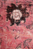 Cave painting flower royalty free stock image